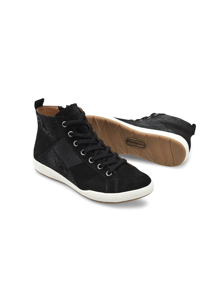Comfortiva Lupine Hi-Top Sneaker in Black