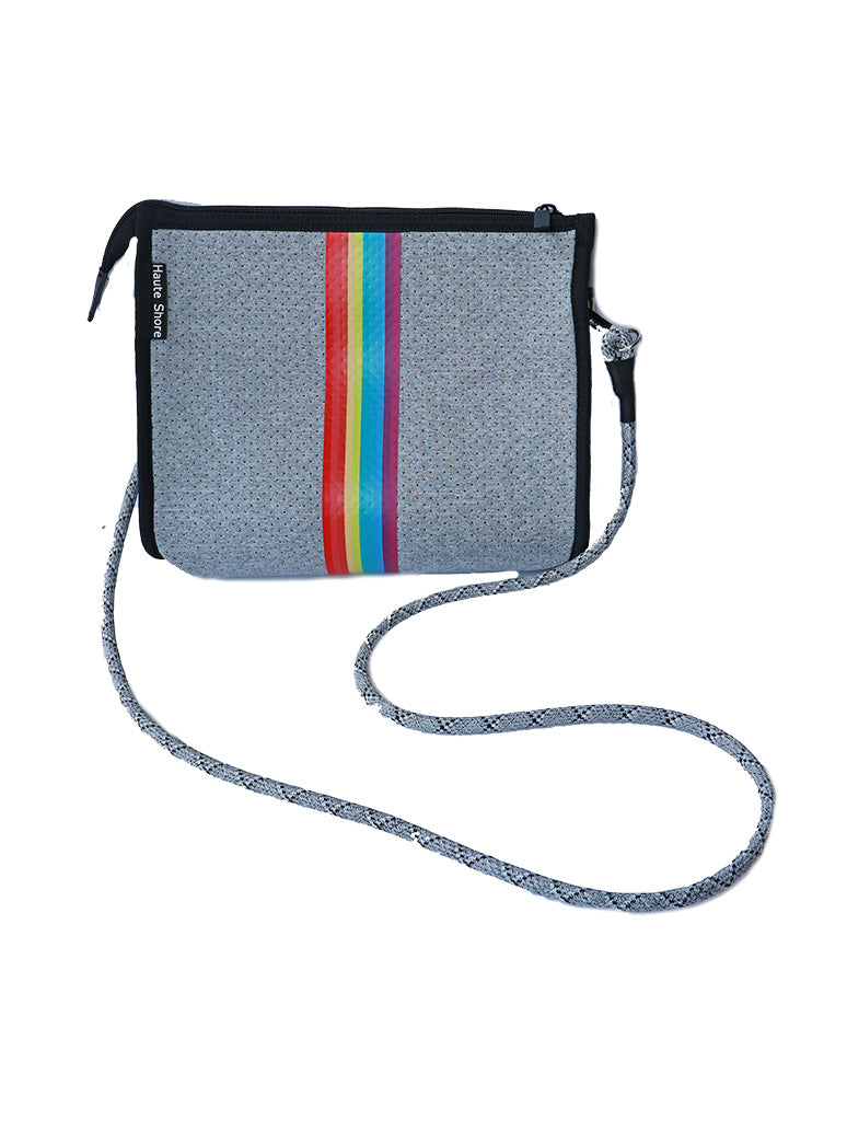 Haute Shore Mark Crossbody Bag in Rainbow/Grey Smile