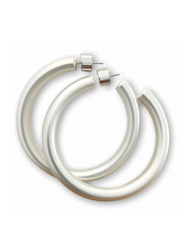 CRC Whole Matte Silver Hoop