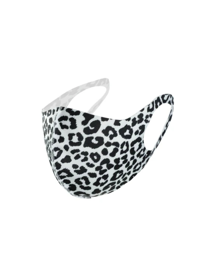 CRC Face Mask in Black/White Leopard