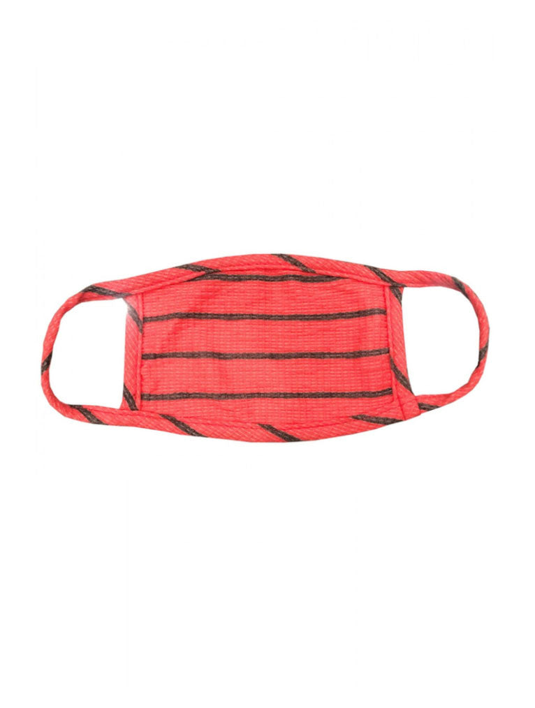 Coin 1804 Cotton Mask in Striped Red