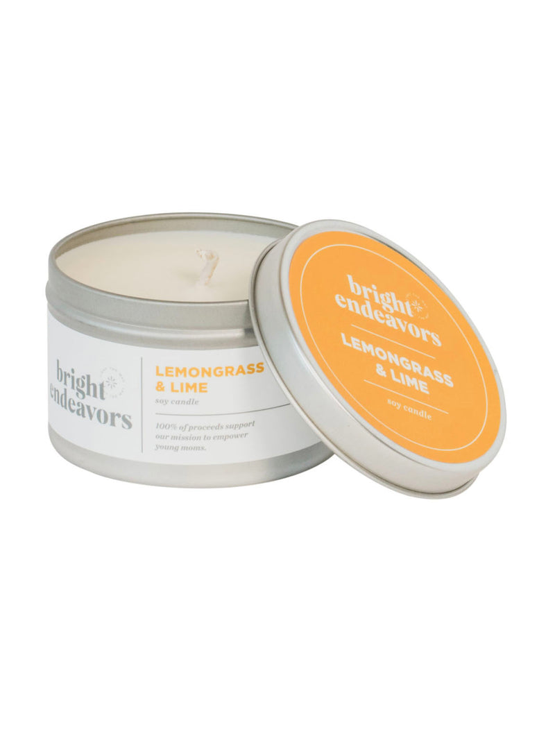 Bright Endeavors 8oz Large Tin in Lemongrass/Lime