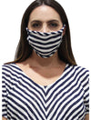 Coin 1804 Cotton Mask in Striped Yellow