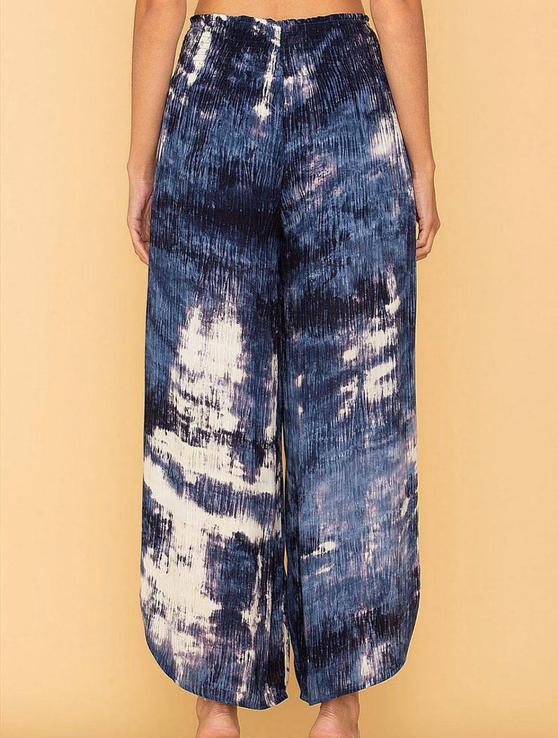 Miss Me Tie Dye Pant in Navy