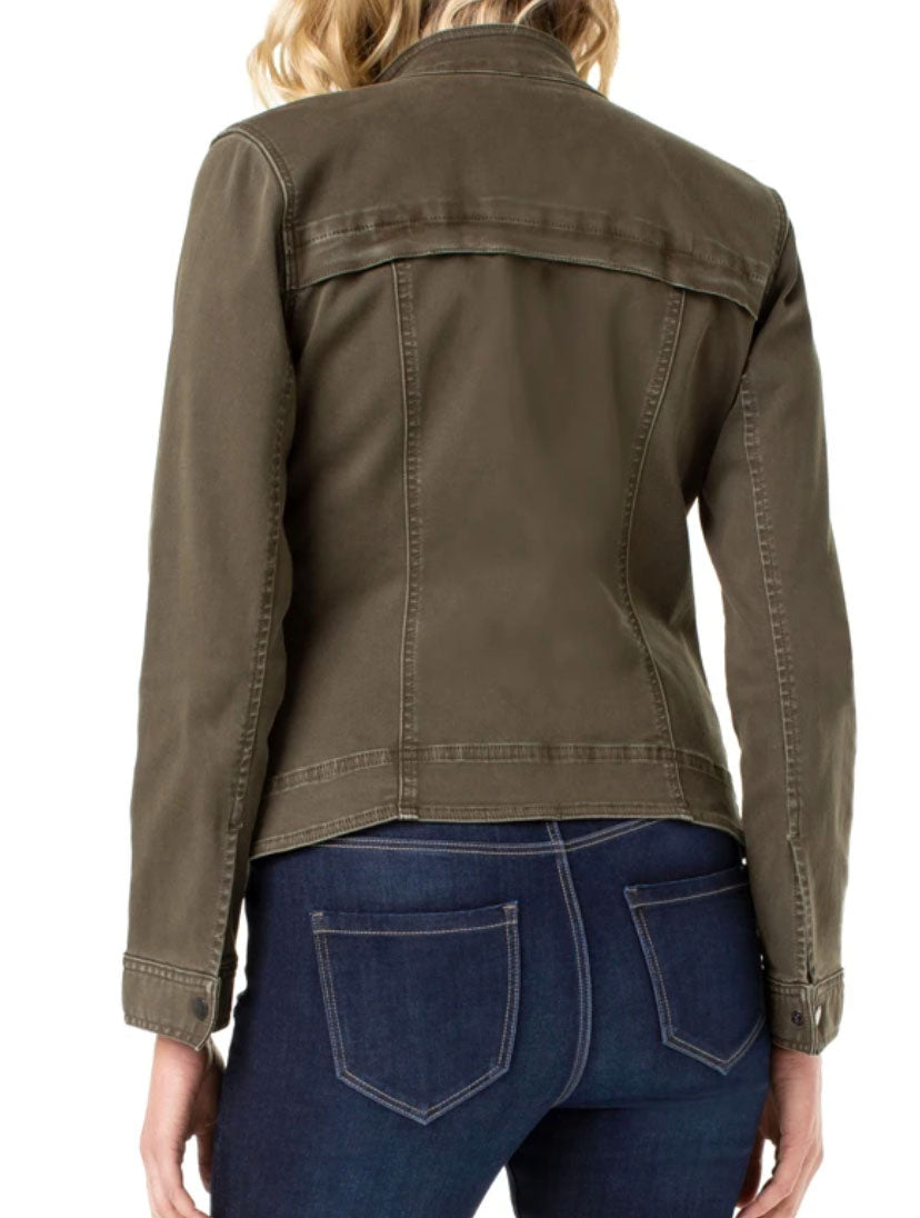 Liver Pool Flight Jacket in Olive