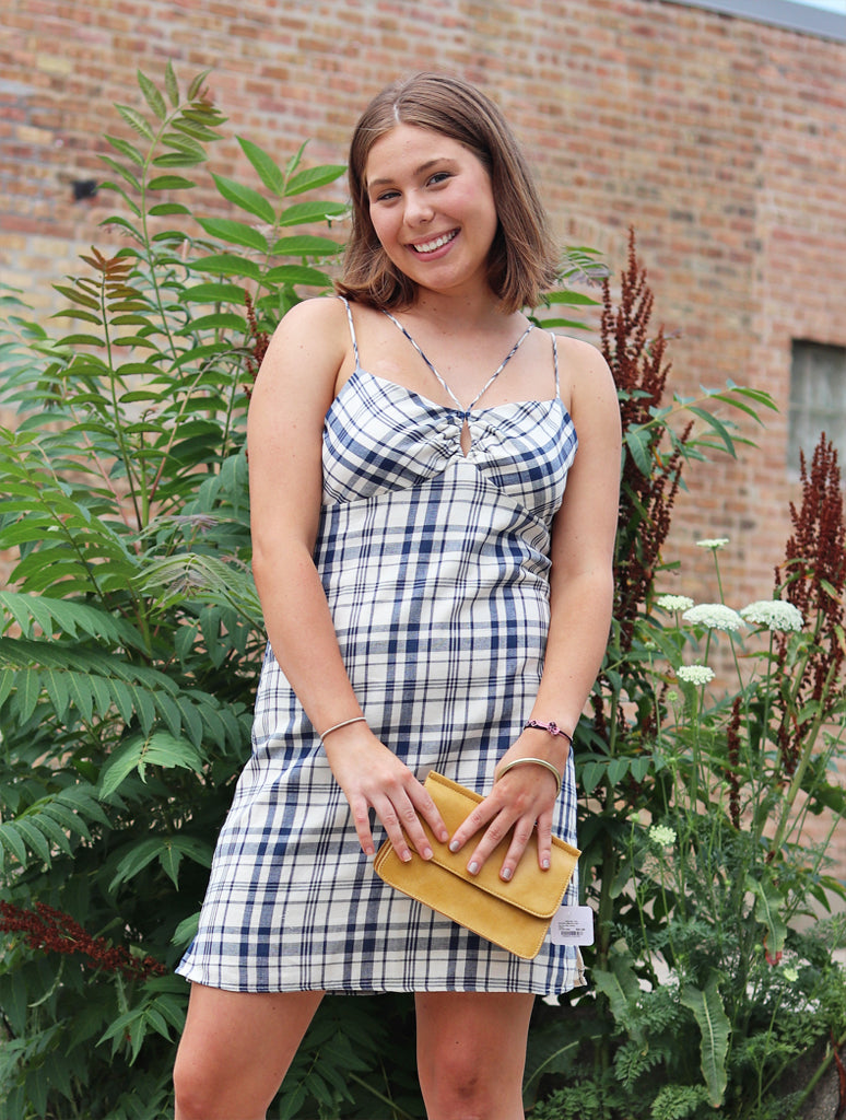 Miss Me Plaid Dress in Multi