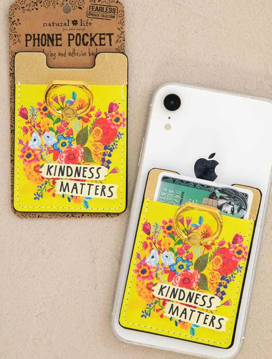 Natural Life 'Kindness' Phone Pocket