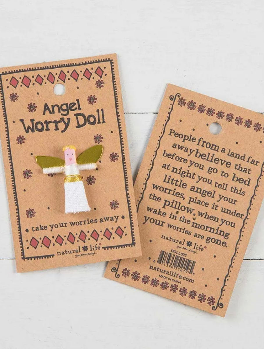 Natural Life Angel Worry Doll