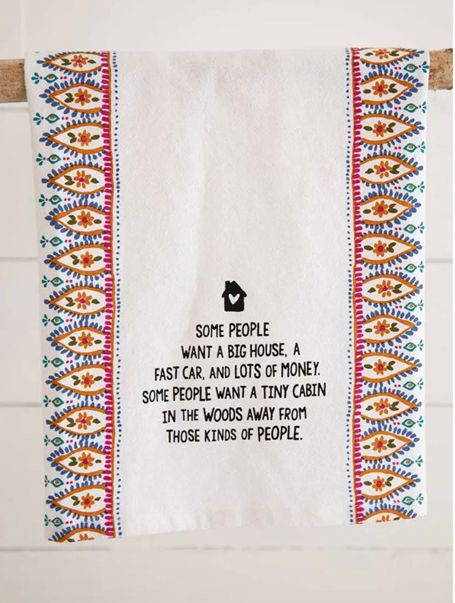 Natural Life 'Cabin In Woods' Flour Sack Towel
