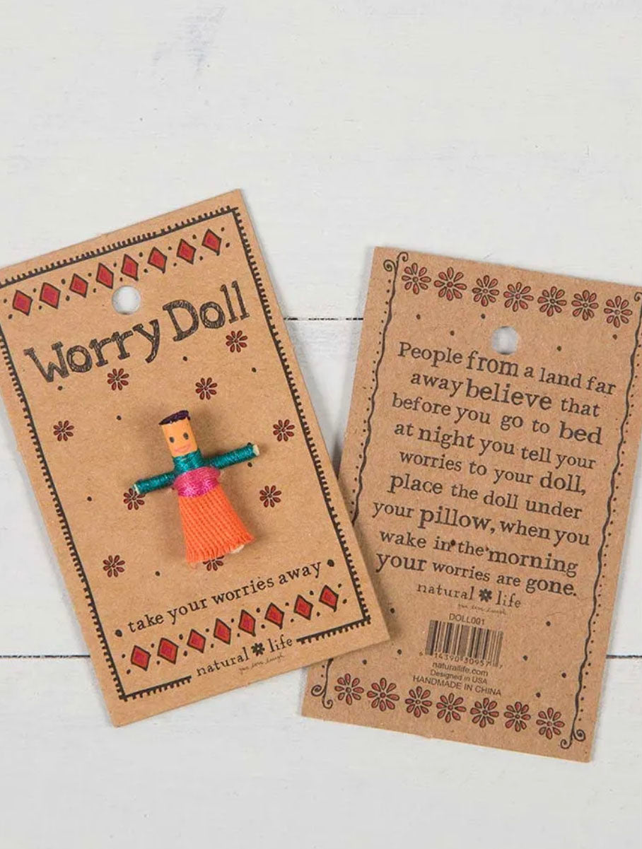 Natural Life Girl Worry Doll