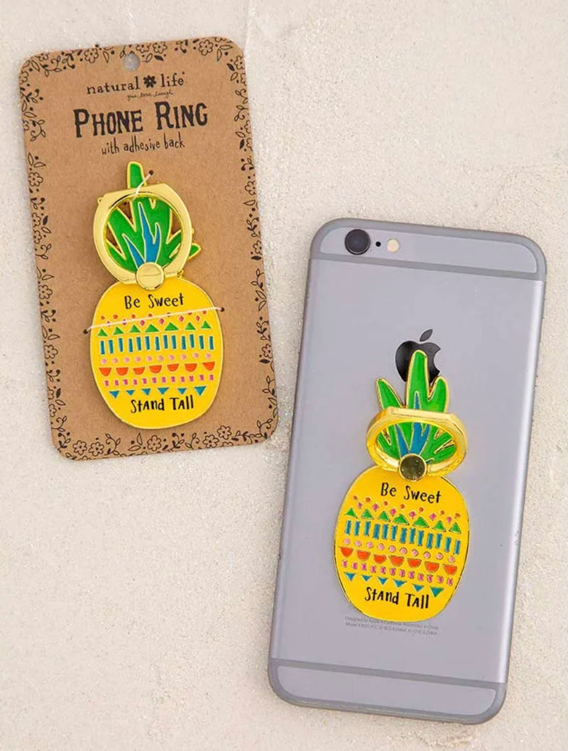 Natural Life Pineapple Phone Ring