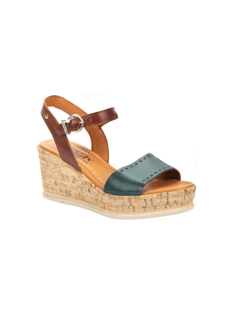 Pikolinos Miranda Wedge Sandal in Emerald