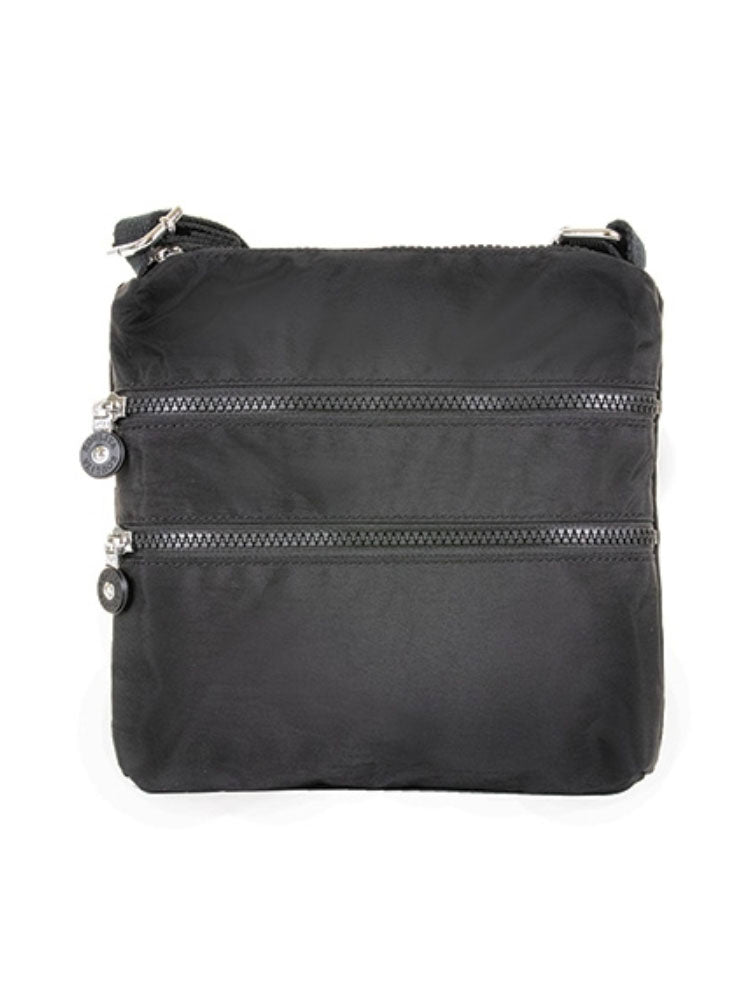 22 Tote Nylon Zipper Bag in Black