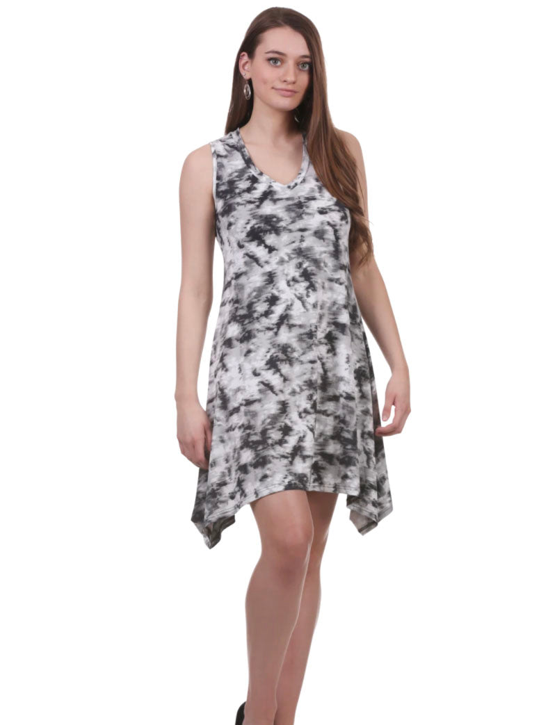 Neesha Print Swing Dress in Black/White