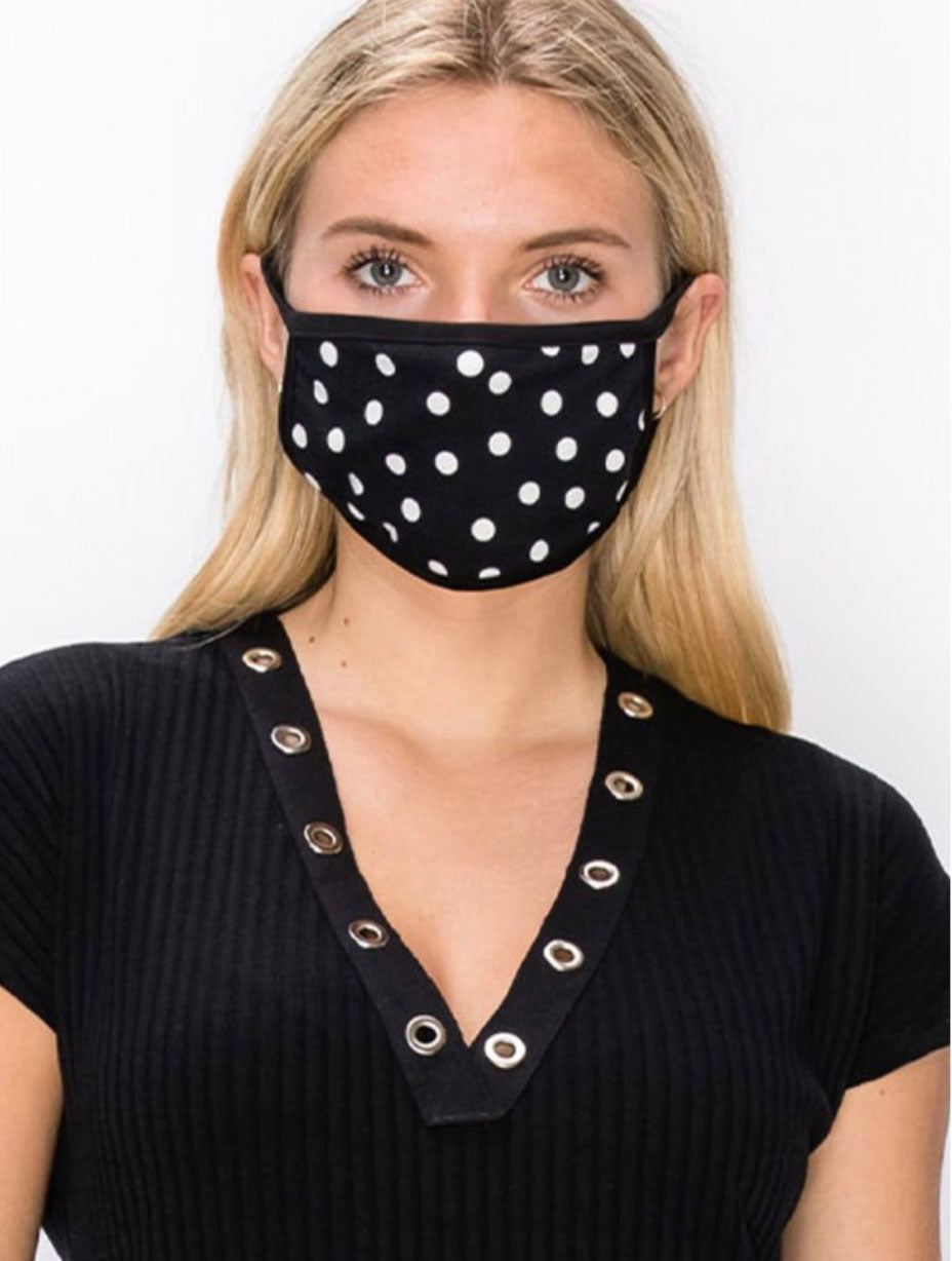 Coin 1804 Polka Dot Mask in Black
