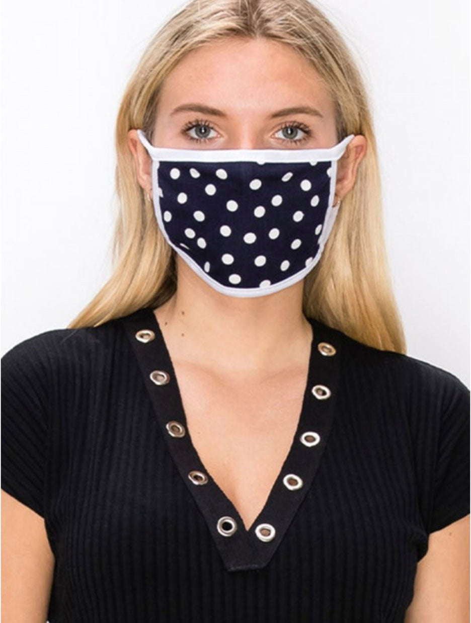 Coin 1804 Polka Dot Mask in Navy