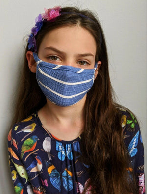 Coin 1804 KIDS Face Mask in Blue