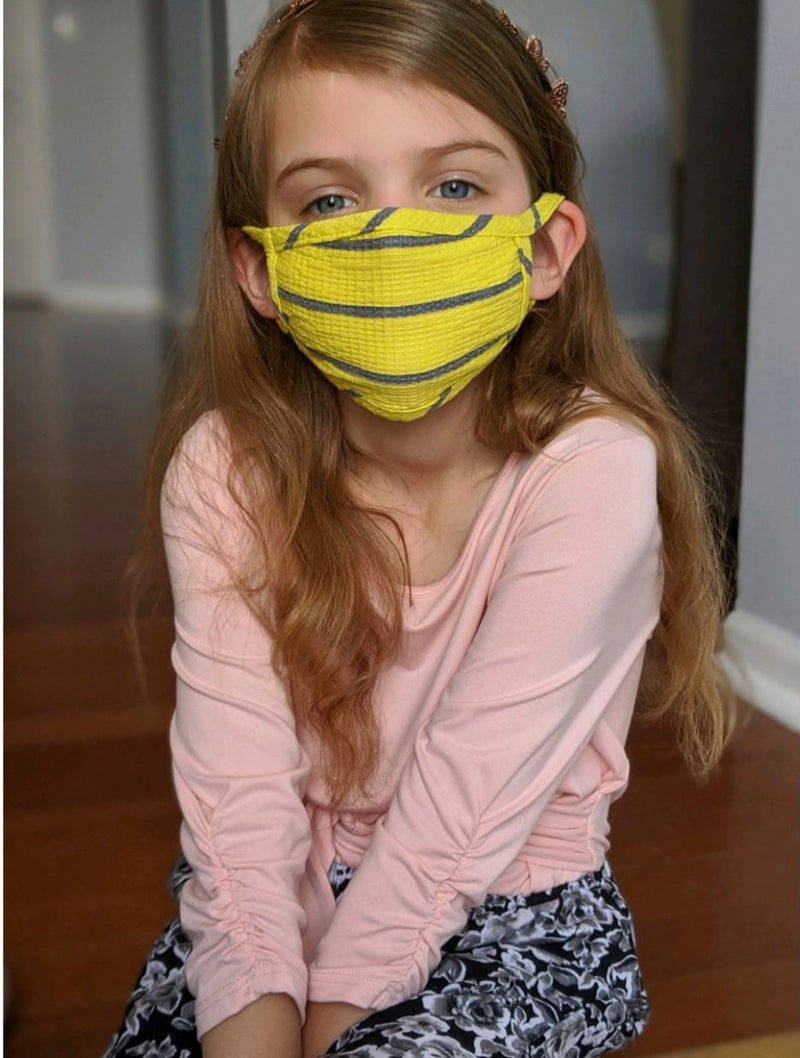 Coin 1804 KIDS Face Mask in Yellow