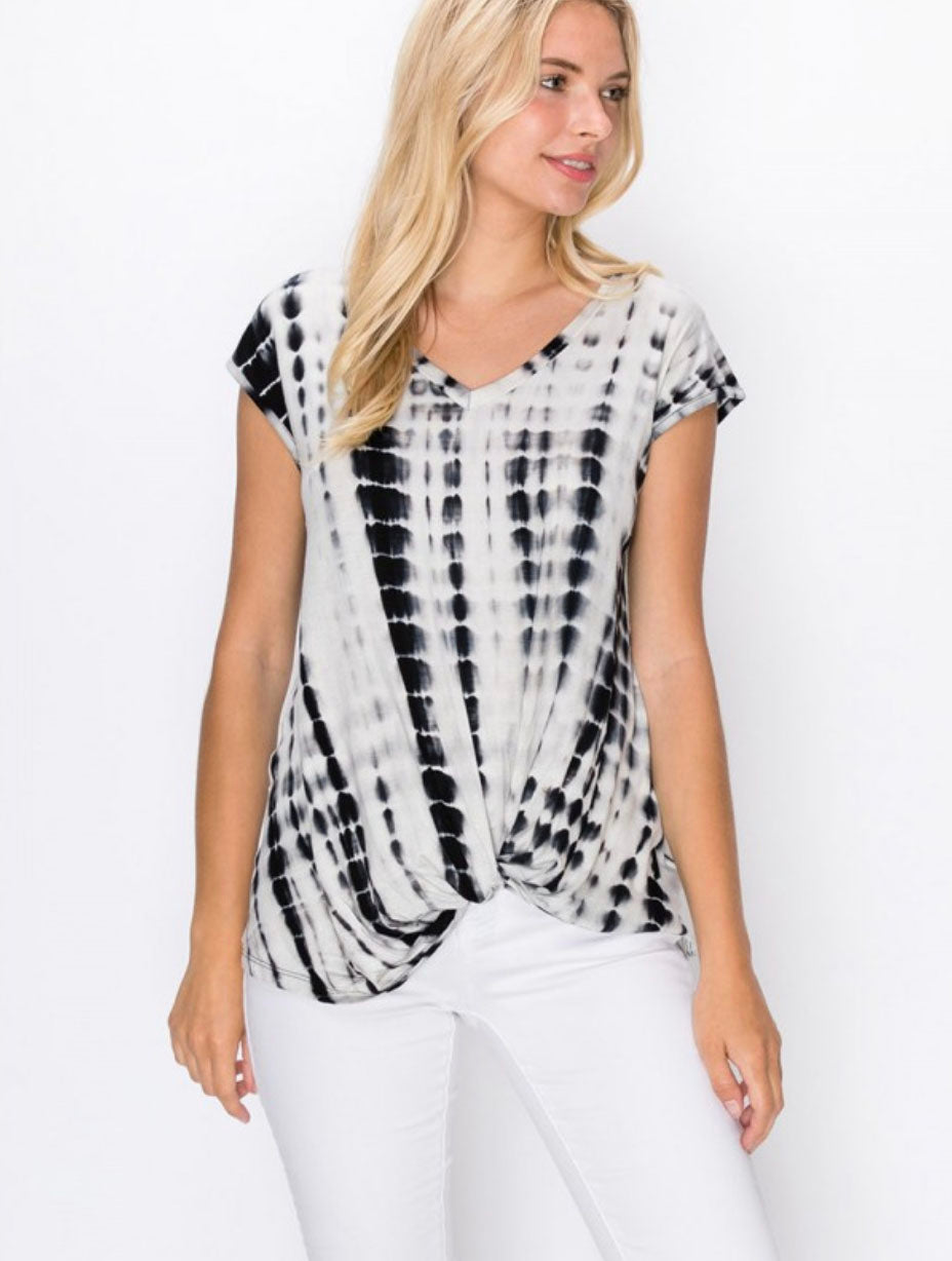Coin 1804 Twist Top in Black/White