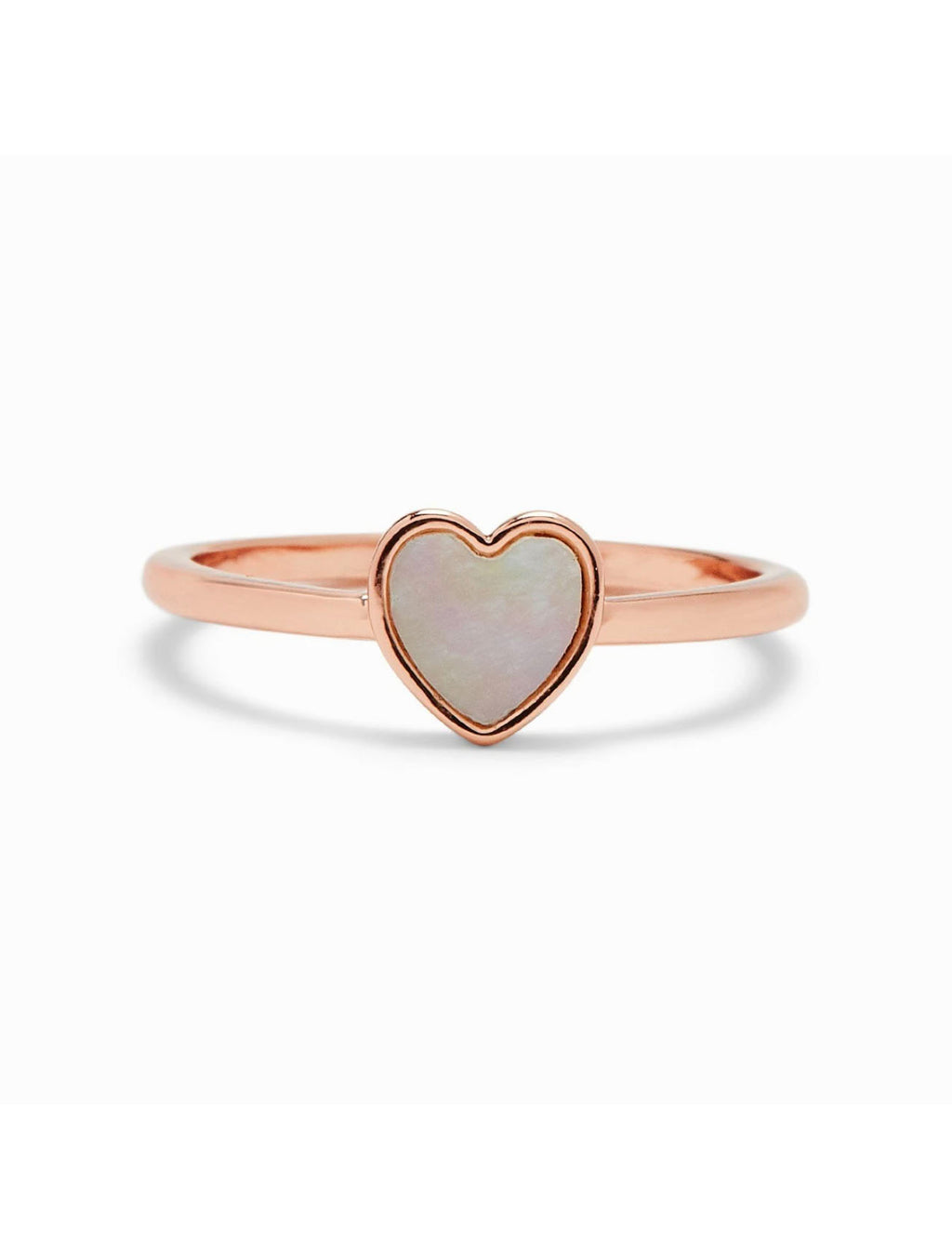 Pura Vida Heart of Pearl Ring in Rose Gold