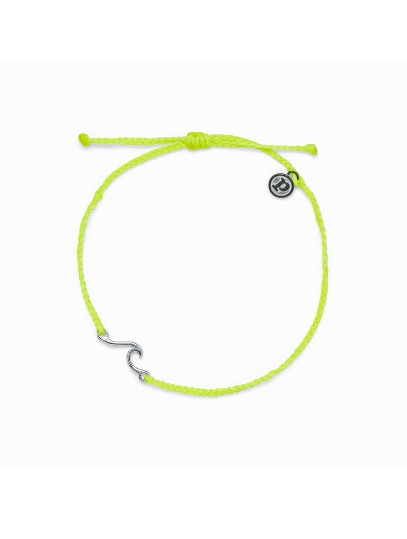 Pura Vida Shore Anklet in Neon Yellow