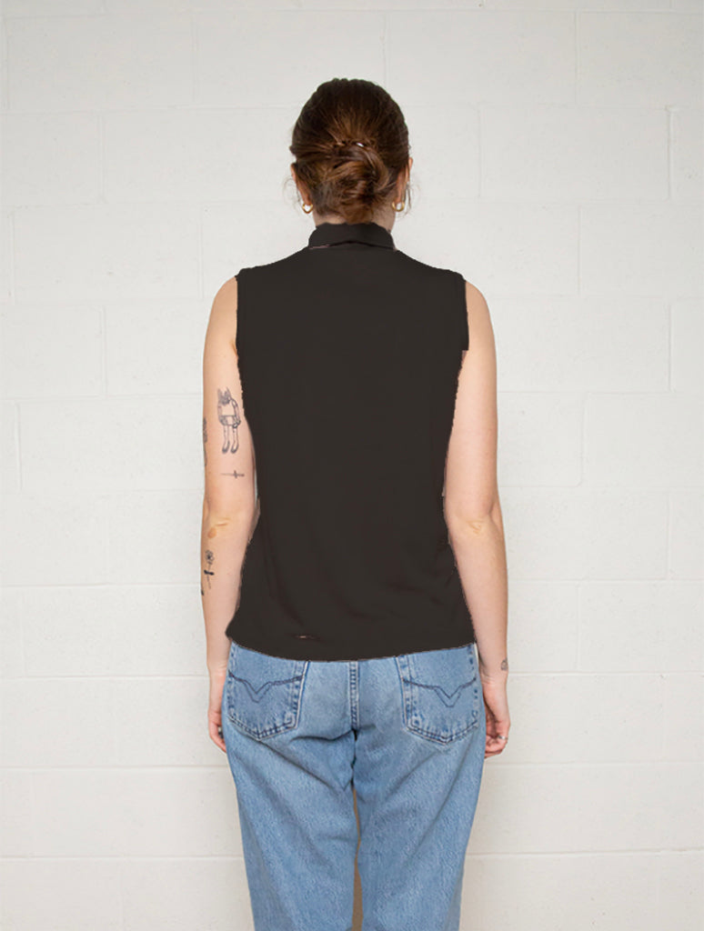No Less Than NLT Turtleneck Tank in Black