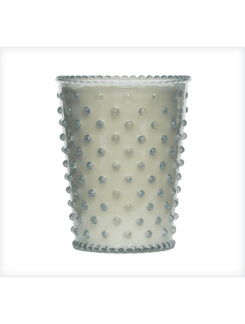 Simpatico Hobnail Glass Candle in Kashmir