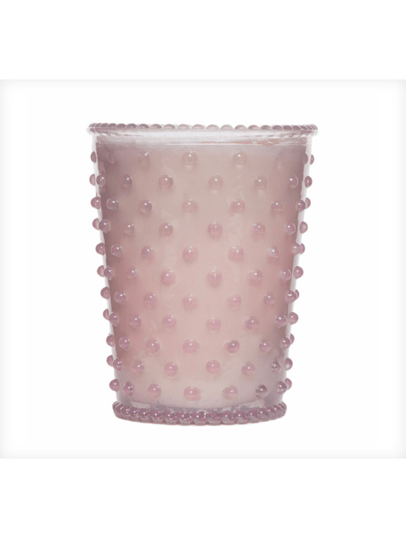 Simpatico Hobnail Glass Candle in Beach Plum
