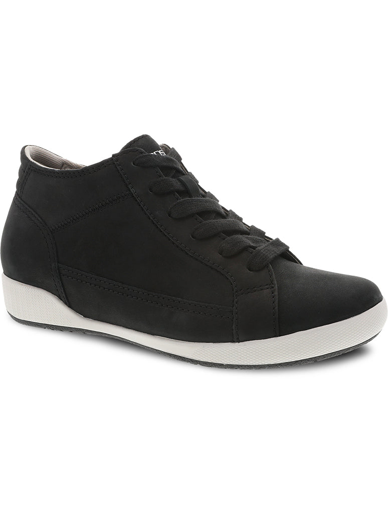 Dansko Onyx Milled Nubuck Hi Top Sneaker Boot in Black
