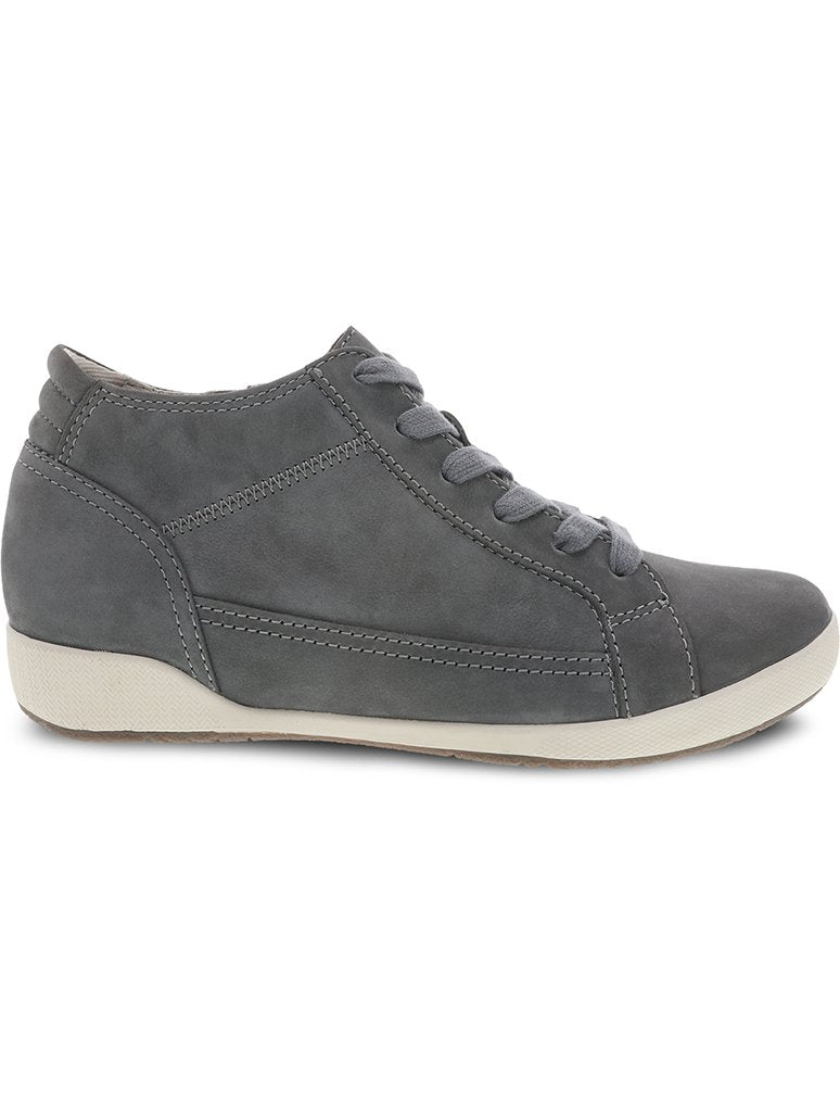 Dansko Onyx Milled Nubuck Hi Top Sneaker Boot in Slate