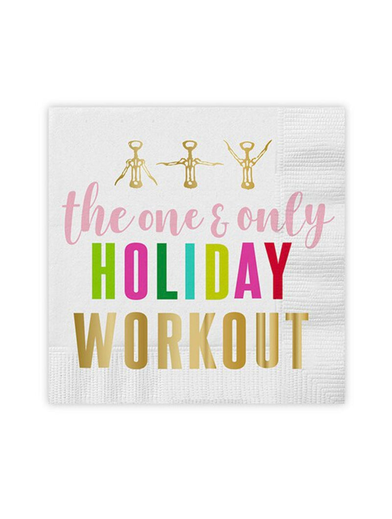 Holiday Workout Napkins in Assorted Colors