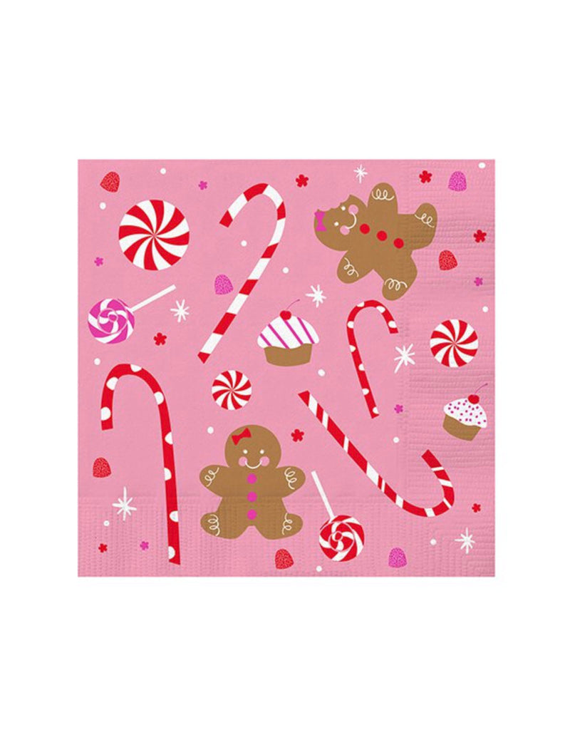 Gingerbread Napkins in Pink