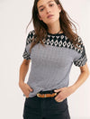 Free People Geo Tee in Black/White Combo