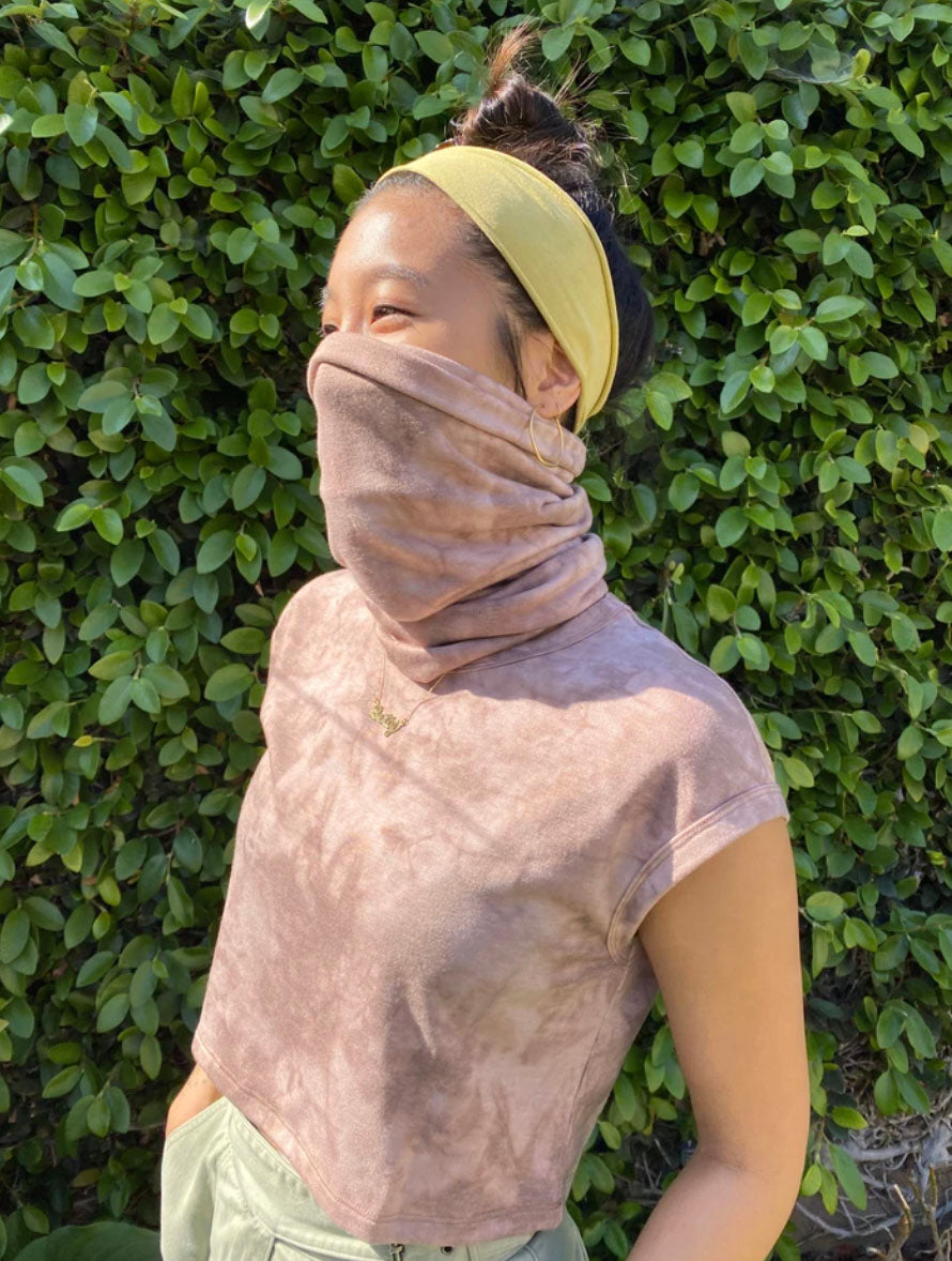 No Less Than Gaiter pull-up Mask Mauve