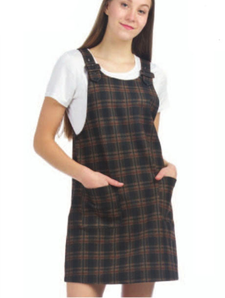 Papillon Plaid Tunic in Brown