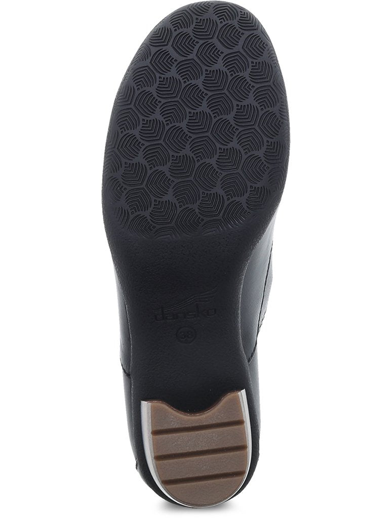 Dansko Pennie Heeled Oxford Shoe in Black