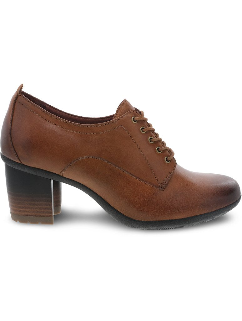 Dansko Pennie Heeled Oxford Shoe in Pecan