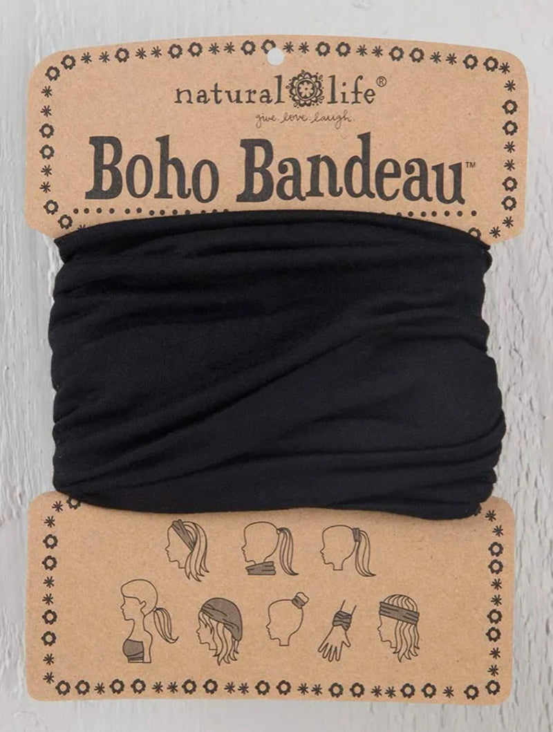Natural Life Boho Bandeau in Solid Black