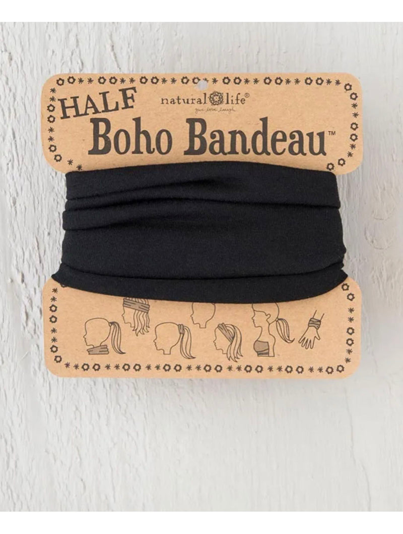 Natural Life 1/2 Boho Bandeau in Black
