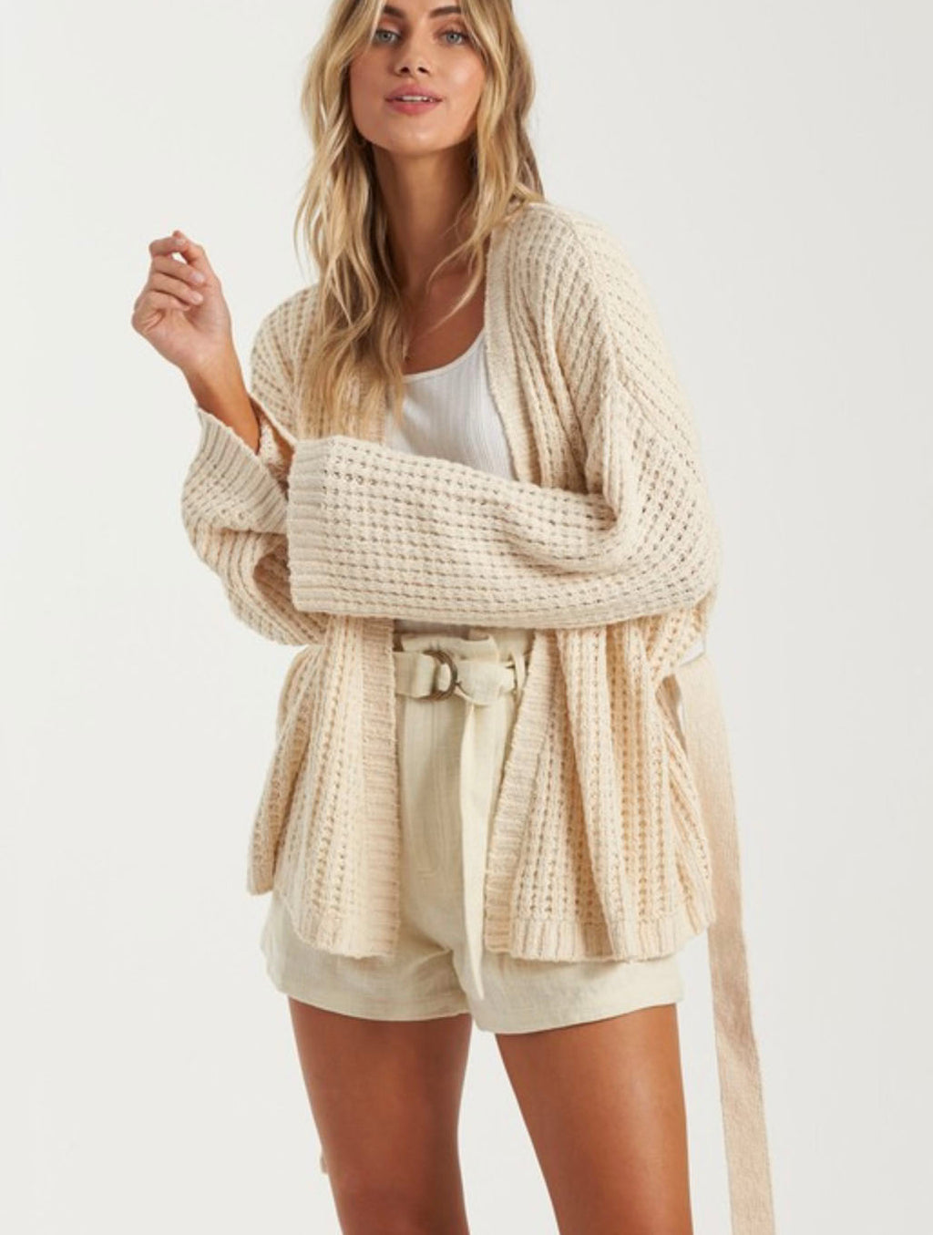 Billabong Those Days Cardigan in White Cap