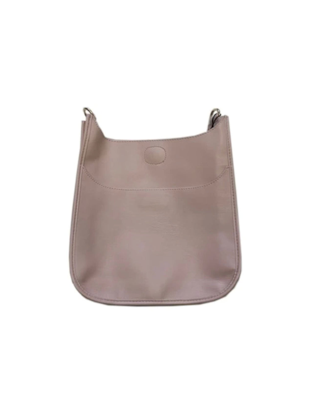 Ahdorned Faux Leather Large Messenger Bag in Blush - No Strap!