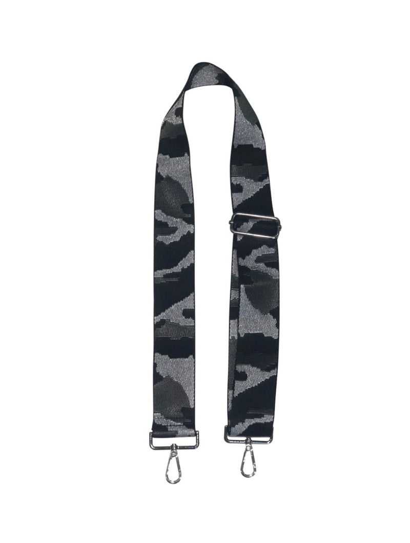 "Ahdorned 2"" Bag Strap in Silver Camo"