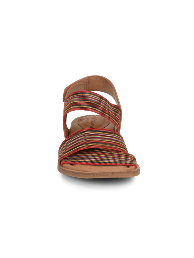 Comfortiva Dacey Sandal in Luggage Red
