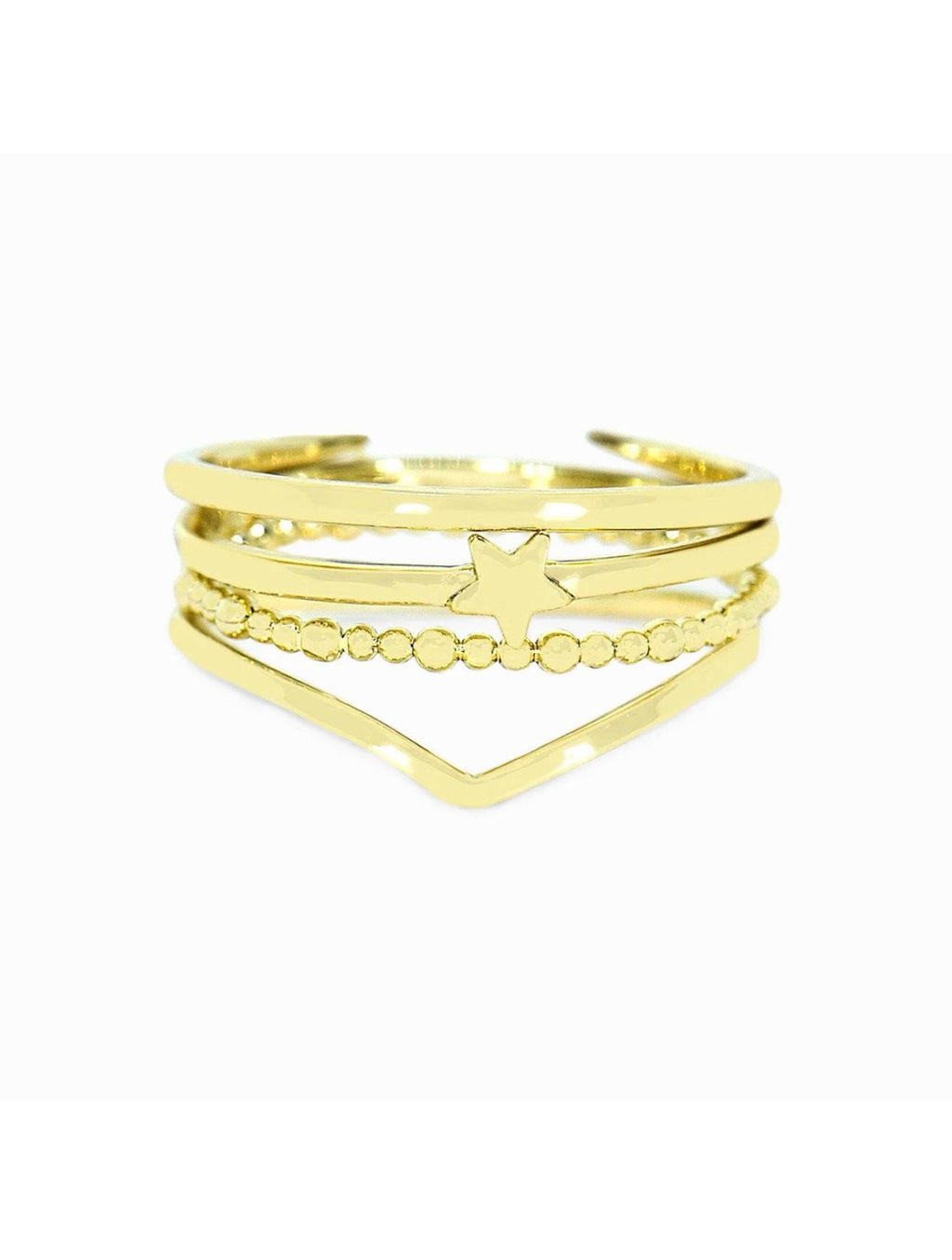 Pura Vida Retreat Stacking Ring in Gold