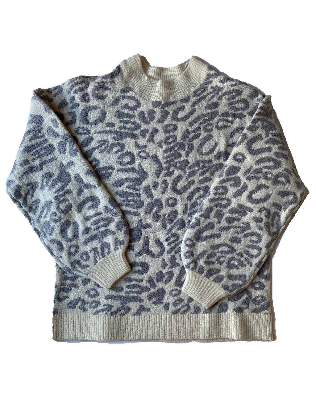 RD Style Leopard Sweater in Grey