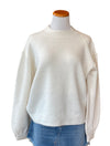 RD Style Balloon Sleeve Sweater in Pearl