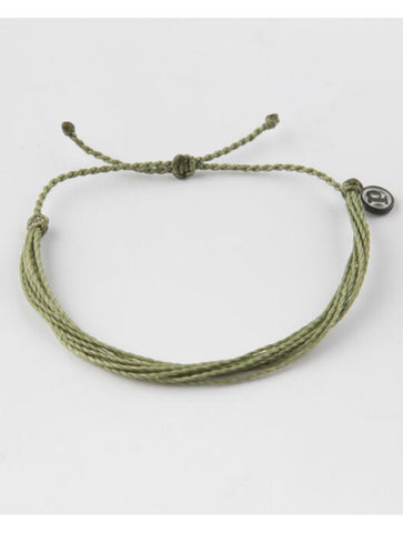 Pura Vida Hammered Wave Bracelet in Strawberry