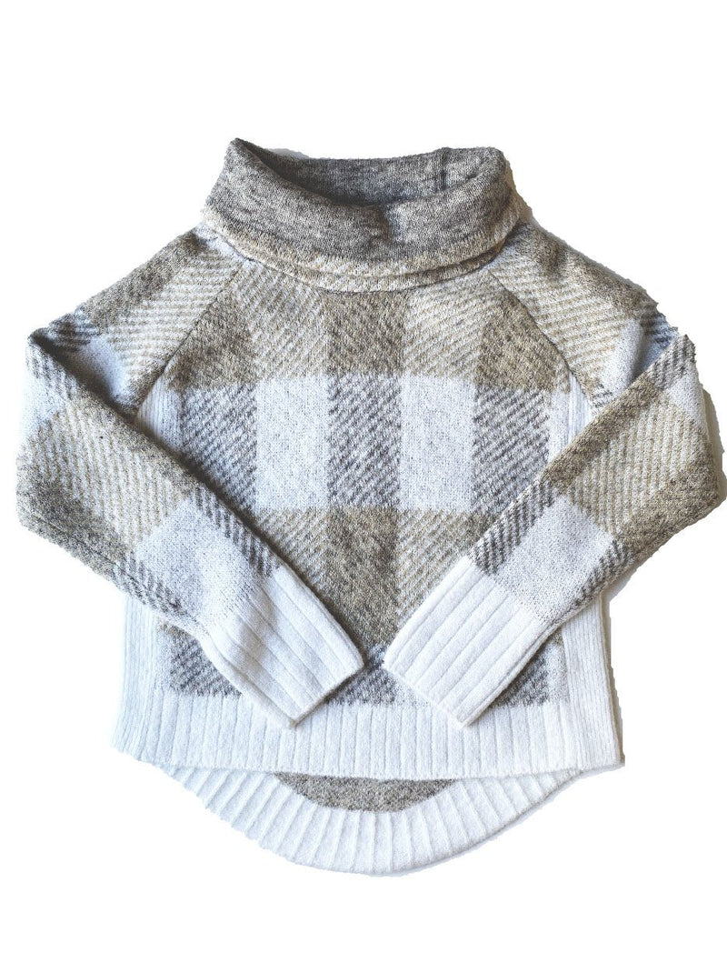 RD Style Checkered Sweater in Soft Sand