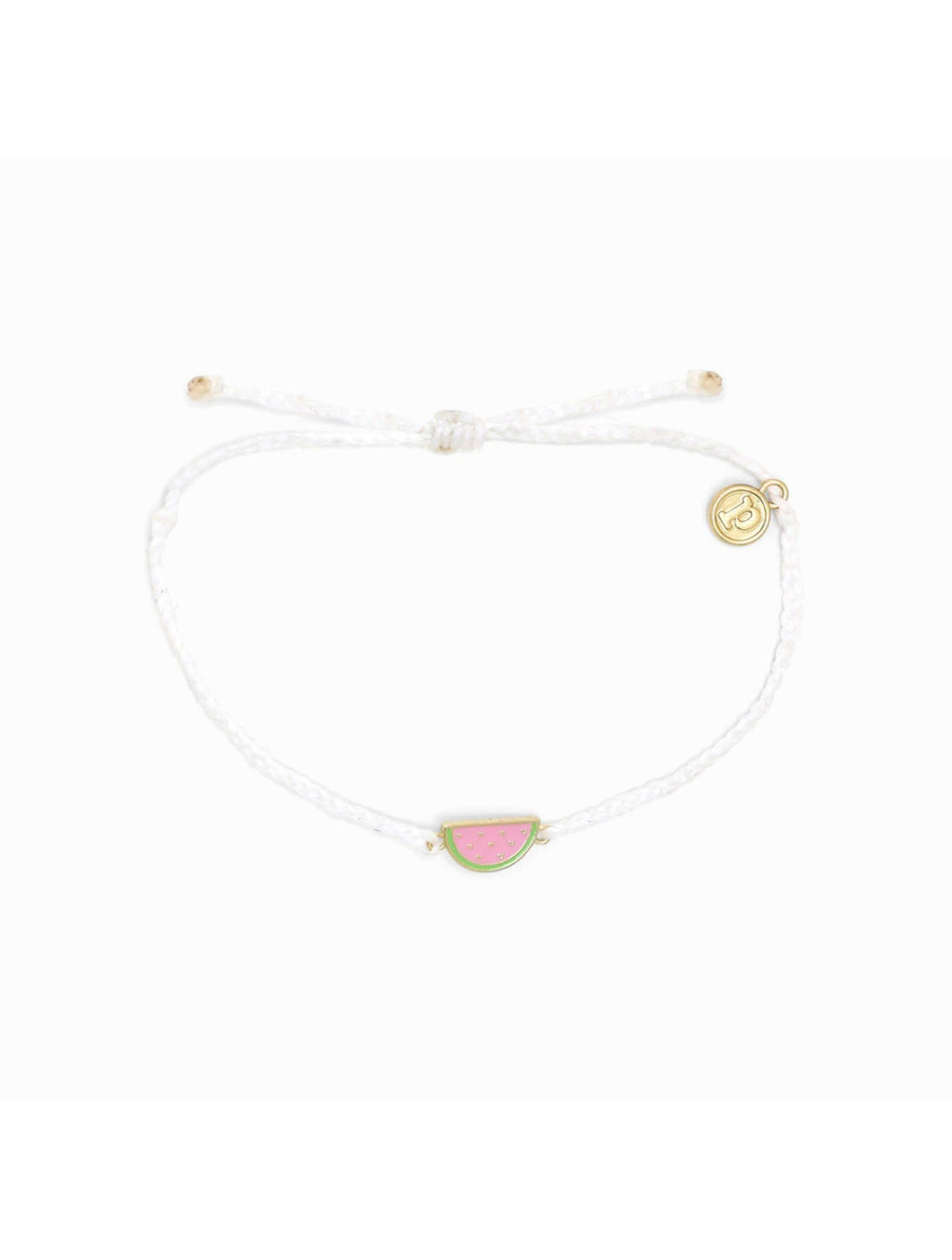 Pura Vida Watermelon Bracelet in White