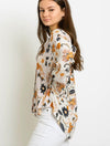 Olivaceous Floral Blouse in Ivory